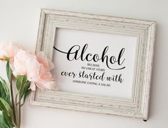 Alcohol Because No Great Story Ever by Invitationstemplates