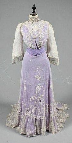Lavendar and lace in a Jacques Doucet Traveling Day Suit, c. 1900-10