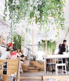 Photo of Café Tommy - Montréal, QC, Canada. The most beautiful coffee spot. Coffee Shop Design, Cafe Design, Cafe Decoration, Table Decorations, Morning Has Broken, Interior Design Portfolios, Condo Kitchen, Beautiful Space, Summer Travel