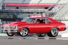 Pro Street 1970 Chevrolet Nova is a Slice of American Pie - Hot Rod Network Chevy Muscle Cars, Best Muscle Cars, American Muscle Cars, American Pie, Chevy Classic, Classic Cars, Pontiac, Chevy Nova, Drag Cars