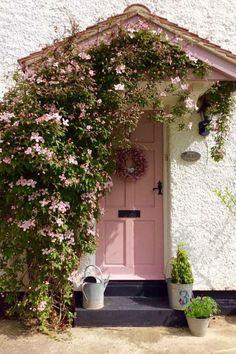 Ideas For Exterior Front Door Entrance Farrow Ball Cottage Front Doors, Cottage Door, Entrance Doors, Doorway, Garage Doors, Cool Doors, Front Door Colors, Colored Front Doors, Farrow Ball