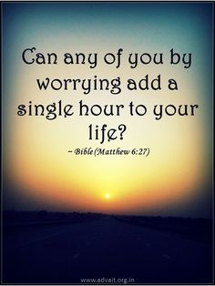 Can any of you by worrying add a single hour to your life? ~Bible #ShriPrashant #Advait #bible #jesus #god #worry #life #bondage #mind #suffering  Read at:- prashantadvait.com Watch at:- www.youtube.com/c/ShriPrashant Website:- www.advait.org.in Facebook:- www.facebook.com/prashant.advait LinkedIn:- www.linkedin.com/in/prashantadvait Twitter:- https://twitter.com/Prashant_Advait