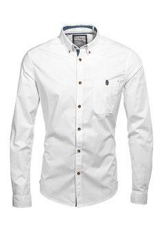 Esprit / Camisa con cuello abotonado en algodón