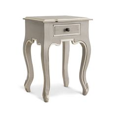 the isabelle bedside table in grey with white edges by swoon editions   notonthehighstreet.com