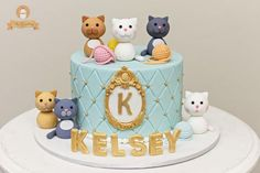 Cat cake ~ The Sweetery by Diana Kitten Cake, Kitten Party, Cat Party, Birthday Cake For Cat, Girl Birthday, Cupcakes, Cupcake Cakes, Cat Cake Topper, Animal Cakes