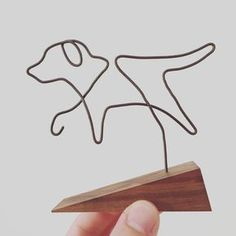 Dog  Wire Illustrated Sculpture by GrainAndWonder on Etsy