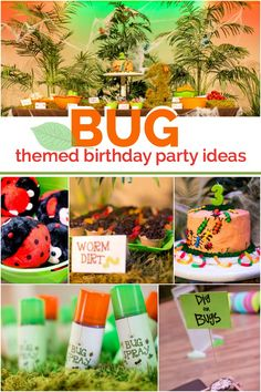 Does your son love bugs? The guest of honor at this boy's bug themed 3rd birthday, planned by Kamille Martin and Michelle Betts of BettsMade, sure does! Crawl…or fly…with us into the wonderful world of bugs as we explore the creative details of this party that will literally... #3rd #birthday #boy