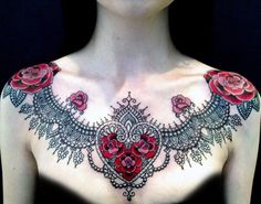 chest tattoo - 40 Nice Chest Tattoo Ideas  <3 <3