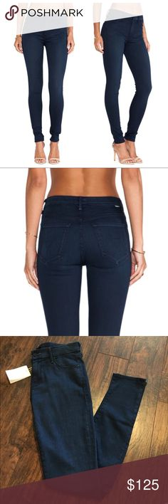 """•Mother• NWT The Looker Untouched Jeans Mother NWT The Looker Untouched Jeans. We can't get enough of cool Mother Denim styles! Mid-rise skinny jeans """"The Looker"""" made of supersoft stretch denim in ankle length and night blue. Inseam 30"""" MOTHER Jeans Skinny"""