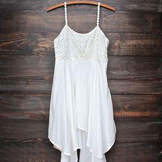 free spirited white boho dress