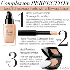 Want to know the secret behind a flawless makeup base? Get Complexion Perfection in three easy steps with Ideal Flawless makeup staples.