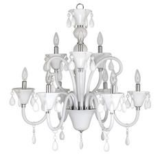 Euphoria Nine-Light Polished Chrome Chandelier with White Lucite Jewel Drops Home Depot Canada