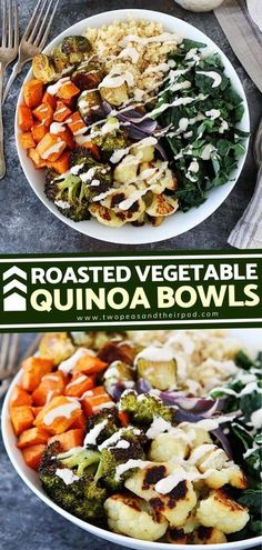 Greens are always a good idea when it comes to healthy eating! This Roasted Vegetable Quinoa Bowl is easy to make and customizable lunch or dinner bowl. Add a drizzle of lemon tahini dressing and your� More