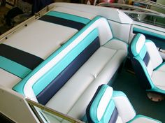 How to Take Care of Boat Seat Upholstery? – Unique Shopping and Gifting Items Car Interior Upholstery, Boat Upholstery, Upholstery Cleaner, Pontoon Boat Seats, Fishing Boat Accessories, Boat Decals, Boat Interior, Interior Ideas, Boat Restoration