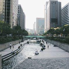 The stream! I could spend hours and hours here.. #gwanghwamun #Korea #korean #SouthKorea #southkorean #Seoul #seoul_korea #seoulsnap #ig_korea#vscokorea #imagineyourkorea #서울#한국
