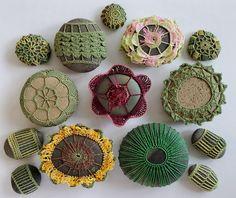 Crochet Stitches Patterns, Stitch Patterns, Crocheted Owls, Crochet Stone, Lace Doilies, Irish Lace, Crochet Gifts, Painted Rocks, Cactus