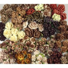Hey, I found this really awesome Etsy listing at http://www.etsy.com/listing/154282872/175-mixed-brown-earthy-roses-mulberry