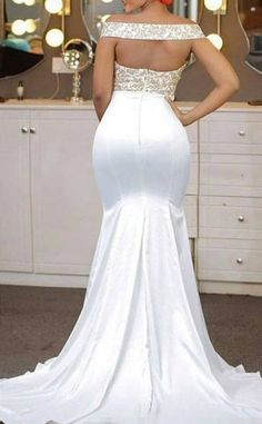 long prom dresses - Aso Ebi African Off The Shoulder Mermaid Evening Dresses Appliques Lace Satin Backless Prom Dress Gold Prom Dresses, Backless Prom Dresses, Prom Dresses For Sale, Mermaid Evening Dresses, Bridesmaid Dresses, African Fashion Dresses, African Dress, Party Gowns, Wedding Gowns
