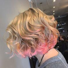 Pink+Babylights+for+Blonde+Bob+Cut
