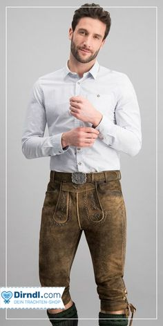 Mens Lederhosen, Leather Trousers, Traditional Dresses, Mens Fashion, Fashion Fall, Sexy Men, Hot Guys, Costumes, My Style