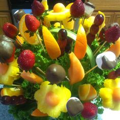 First fruit bouquet that I made for the fox.