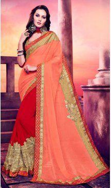 Red Color Georgette Embroidery Casual Wear Saree   FH577785387 Follow us @heenastyle  #sareestowear #sareeswithdiamonds #lotsonsale #sareeslooksogood #heavysarees #brocades #mysurisarees #casualsarees #bollywoodsarees #linensarees #pink #yellowflowers #lookbook #delhi #delhibloggers #stylist #fahionbloggers #instabloggers #casualsarees #handwoven #handloom #handcrafted #henastyle #Heenastyle