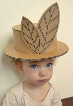 DIY Kids Cardboard Hat Project -- these are amazing!