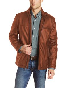 Laverapelle Men's Cognic Tan Genuine Lambskin Leather Jacket - 1510135 - Extra Large