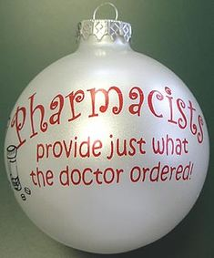 custom gifts for pharmacists | pharmacist pearl ball ornament pharmacist christmas ornament your ...