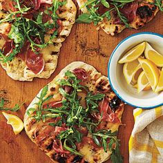 Grilled Pizza with Prosciutto, Arugula, and Lemon | CookingLight.com