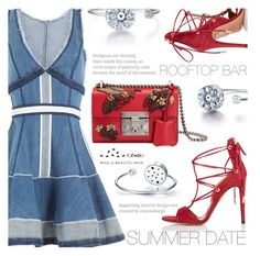 Summer Date by totwoo on Polyvore featuring polyvore fashion style Dsquared2 Aquazzura Gucci clothing