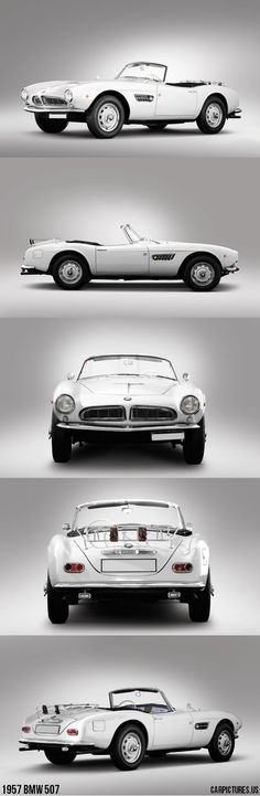 1957 BMW 507, would make for a perfect beach car in a tropical island, but looks cool, and fun to drive