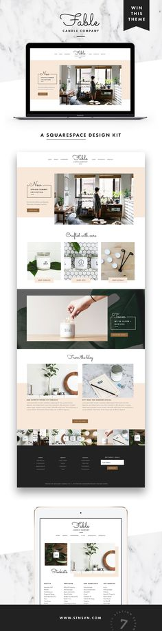 Squarespace website | Minimal web design | Squarespace design | Station Seven | Click through to buy!