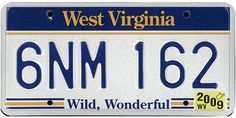 The official West Virginia state license plate. The Wild and Wonderful Whites of West Virginia is a 2009 documentary film directed by Julien Nitzberg, chronicling the White Family of Boone County, West Virginia. Car License Plates, Licence Plates, Auto Body Repair Shops, Vehicle Registration Plate, Mid Atlantic States, Boone County, Car Tags, Car Detailing, The Body Shop