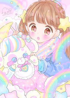 Manga Anime Girl, Anime Girl Drawings, Anime Girl Cute, Kawaii Anime Girl, Anime Chibi, Iphone Wallpaper Cat, Cute Anime Wallpaper, Cute Cartoon Wallpapers, Animes Wallpapers