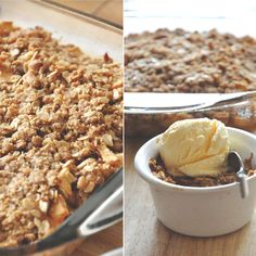 Gluten Free Vegan Apple Crisp - I just made this for my non-vegan family this morning and it was a hit. Btw, I didn't make it gluten free; I used all-purpose flour instead.