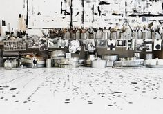 The studio of Danish artist/painter Tenka Gammelgaard. #work_space, #clutter, #organization