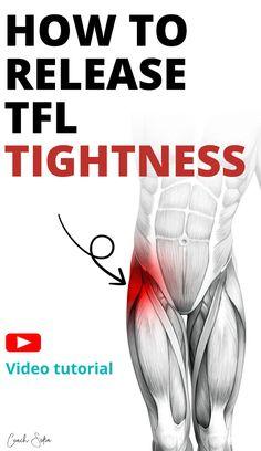 Hip Flexor Exercises, Back Pain Exercises, Hip Stretching Exercises, Hip Strengthening Exercises, Stretches, Psoas Muscle, Muscle Pain, Best Exercise For Hips, Tensor Fasciae Latae