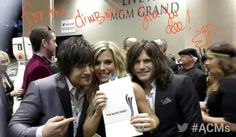 The Band Perry backstage at the American Country Music Awards.