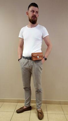 Vooc - woow férfi oldaltáska, Khaki Pants, Fashion, Moda, Khakis, Fashion Styles, Fasion, Trousers