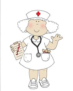 Free Dearie Dolls Digi Stamps: As requested....Nurse No Shot