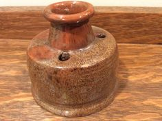 Ceramic Inkwell Handmade Replica from Sturbridge Village by OnceSoldNowNew on Etsy