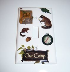 Our Camp Single Lightswitch Cover by MoanasUniqueDesigns on Etsy