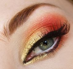 This would be wearable everyday with the orange toned down a bit. So pretty!