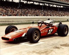 In 1969 Mario Andretti finally won the Indy 500 for Andy Granatelli's STP team in a piston powered Lotus with a turbocharged Ford engine. Mario Andretti, Indy Car Racing, Indy Cars, Indy 500 Winner, Gp F1, Classic Race Cars, Classic Auto, Indianapolis Motor Speedway, Old Race Cars