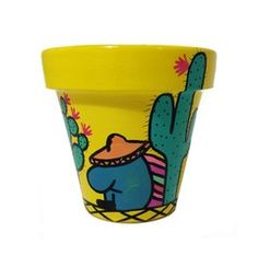 Maceta Cactus Amarilla Nro. 16