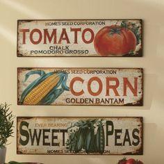 Vintage Vegetable signs
