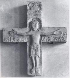 Croce Stradale Marmo lavorato a bassorilievo fine XII inizi XIII secolo Museo Nazionale d'Arte