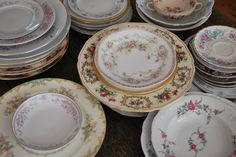 Where to rent vintage china for a wedding