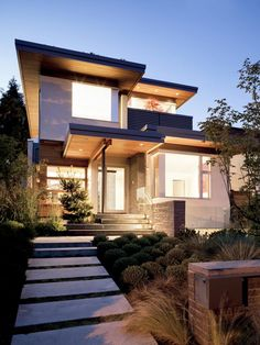 Frits de Vries Architect designed this West 21st House in Vancouver, Canada. http://www.frits.ca/  This 3070 sq ft single family residence with detached garage is located on a 42 ft wide lot in the Dunbar neighbourhood of Vancouver. (Click on photo for high-res. image.) Also blogged here: http://www.contemporist.com/2012/02/20/west-21st-house-by-frits-de-vries/